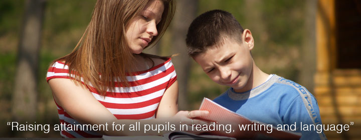 Raising attainment for all pupils in reading, writing and language